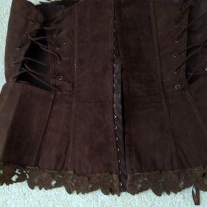 Suède corset